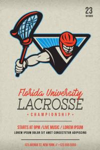 Lacrosse Flyer Template