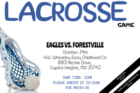 Lacrosse Game Flyer - Customizable