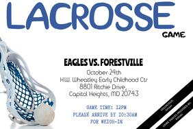 Lacrosse Game Flyer - Customizable