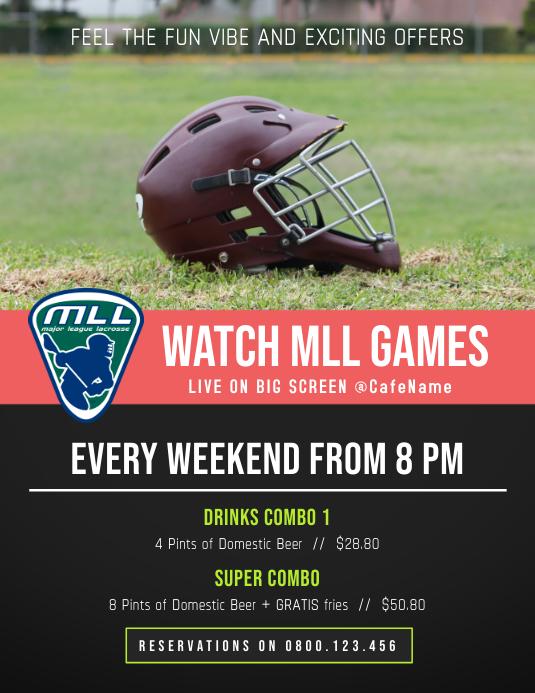 Lacrosse Screening Poster Template