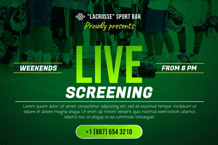 Lacrosse Sports Bar Screening Poster Template