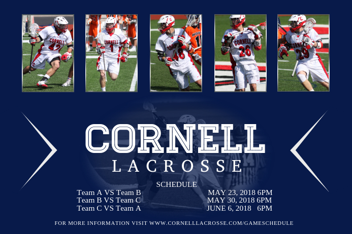 Lacrosse Team Collage Flyer Template