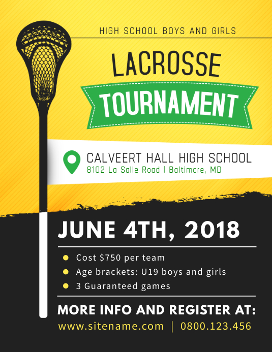 Lacrosse Tournament Poster Template