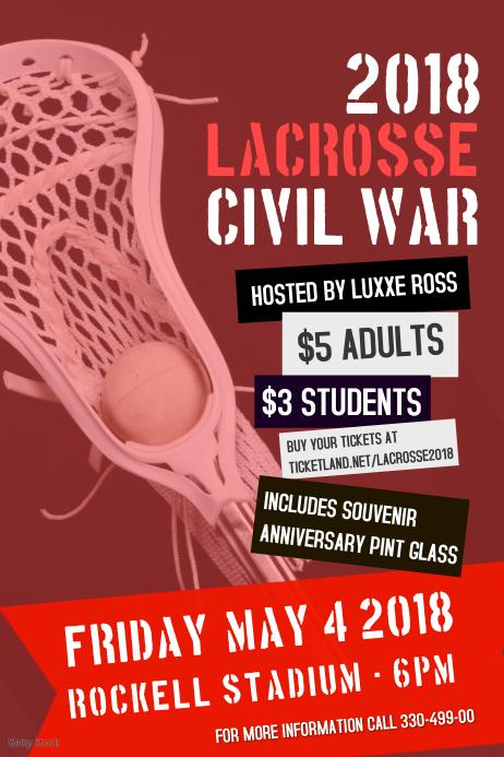 Lacrosse Typographic Poster Templates