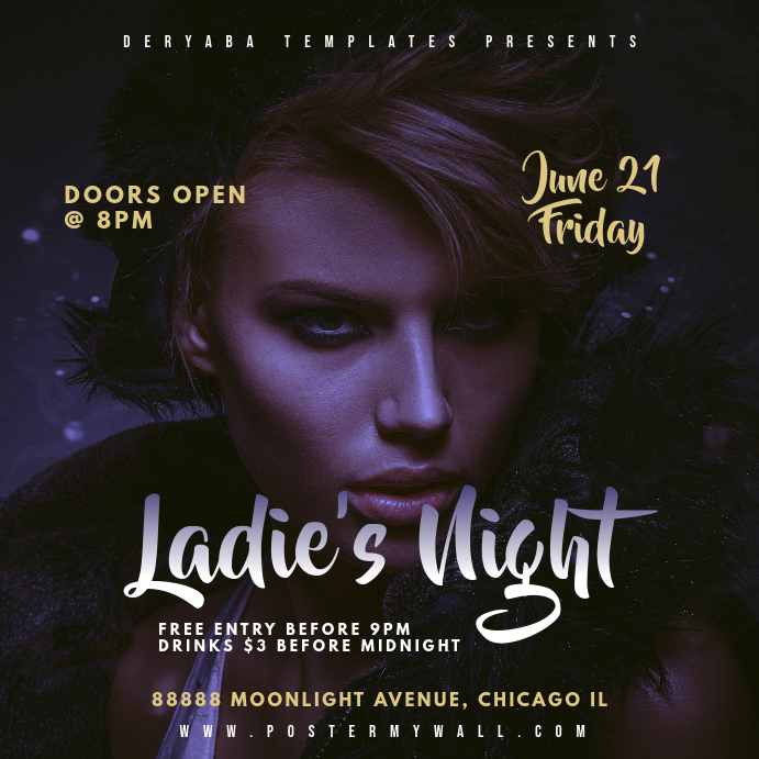 Ladie's Night Instagram Square Party Banner Template
