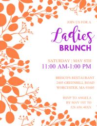 Ladies Brunch Invitation Flyer Template