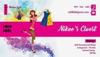 Ladies Clothing Boutique Bussiness Card template