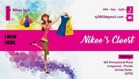 Ladies Clothing Boutique Bussiness Card Tarjeta de Presentación template