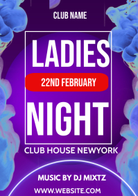 Ladies flyers night A3 template