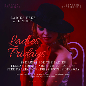 Ladies Fridays Instagram Banner Template
