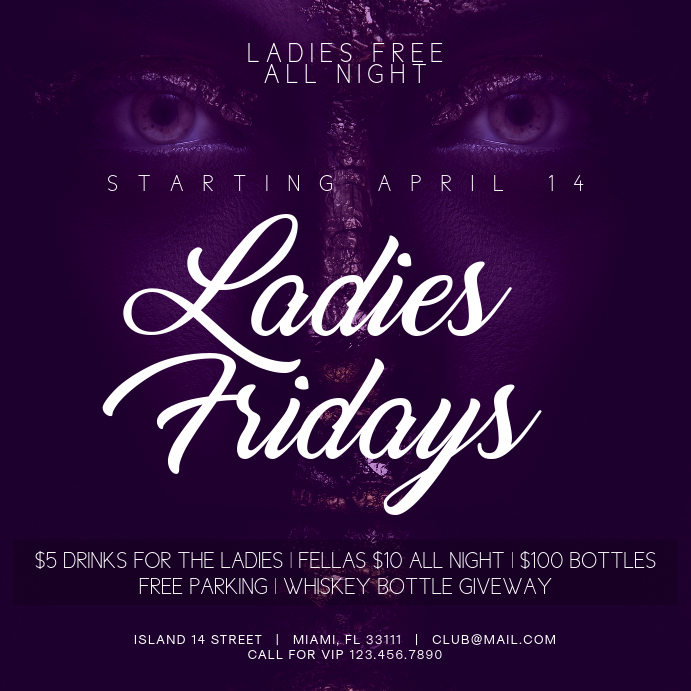 Ladies Fridays Instagram Party Banner Template