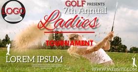LADIES GOLF TOURNAMENT AD template auf Facebook geteiltes Bild