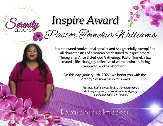 Ladies Ministry Award Folder (US Letter) template