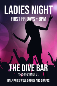 Ladies Night - Bar Poster Iphosta template