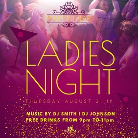 Ladies Night Bar Promo Video Template