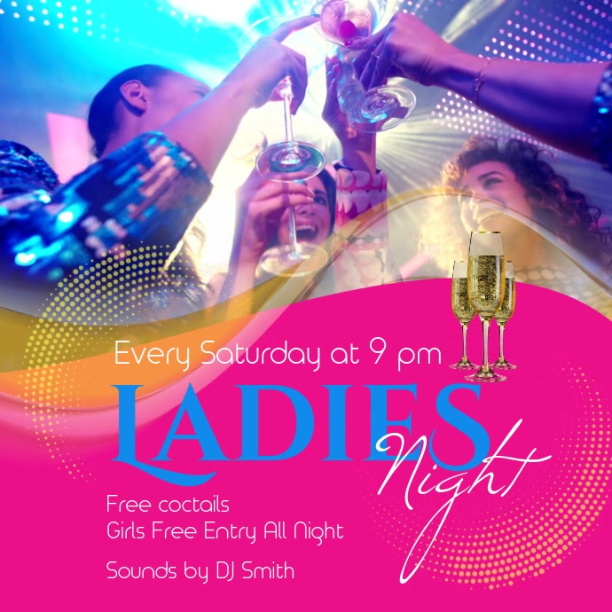 Ladies Night Bar Video Template