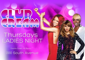 ladies night out club flyer events party bar