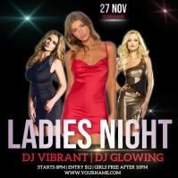 ladies NIGHT CLUB PARTY AD DESIGN Logótipo template