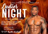 Ladies night club party Poskaart template