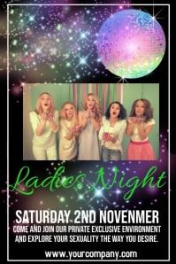 Ladies Night Plakat template