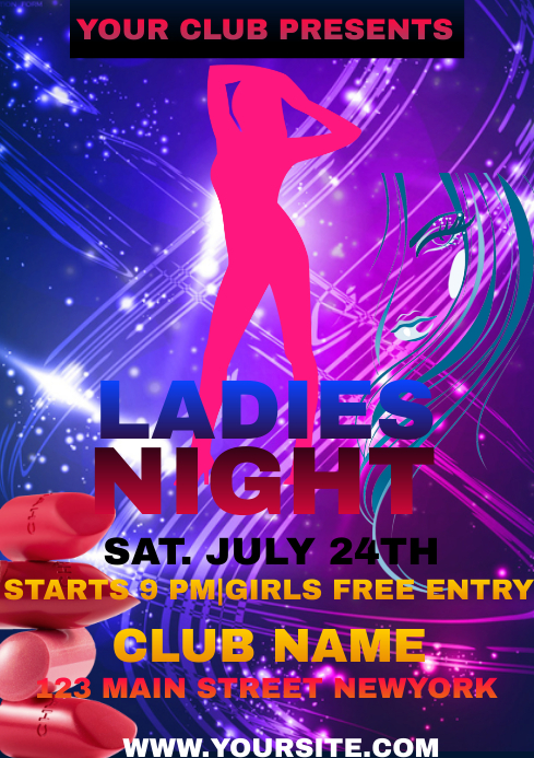 LADIES NIGHT A4 template