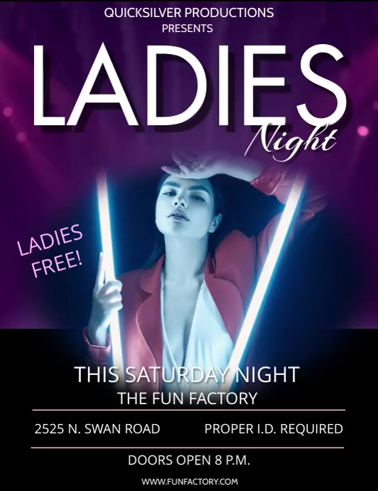 LADIES NIGHT Flyer (US-Letter) template