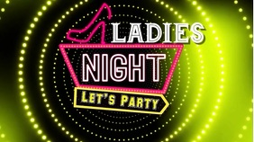Ladies Night Disco Flyer Digital Display (16:9) template