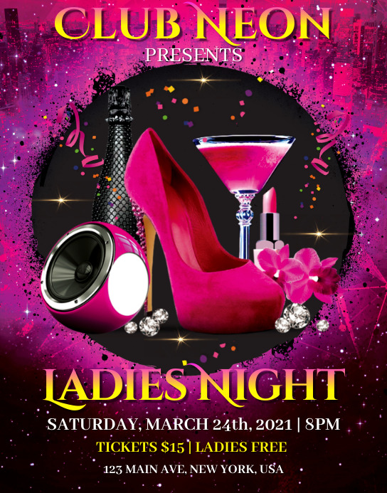 Ladies Night Event Póster/Tablero template