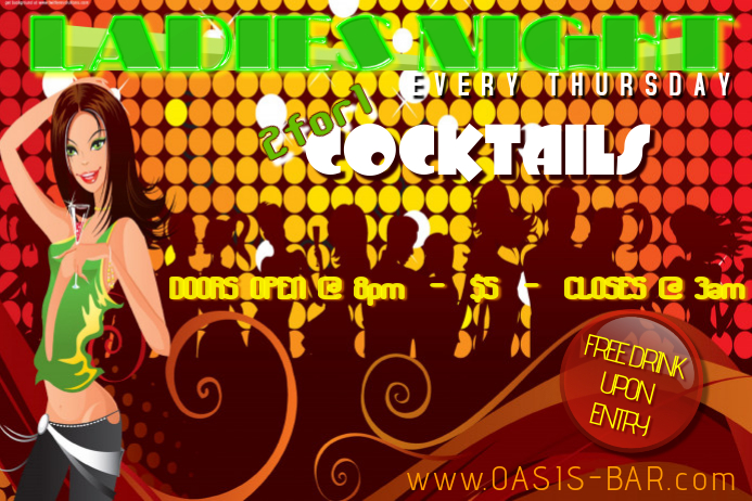 Ladies Night Club Event Party Flyer