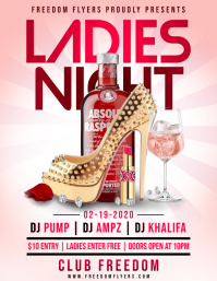 Ladies Night Flyer Iflaya (Incwadi ye-US) template
