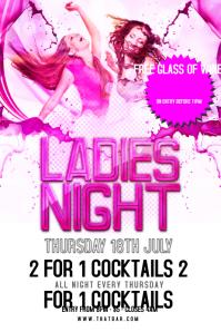 Ladies Night Flyer Template