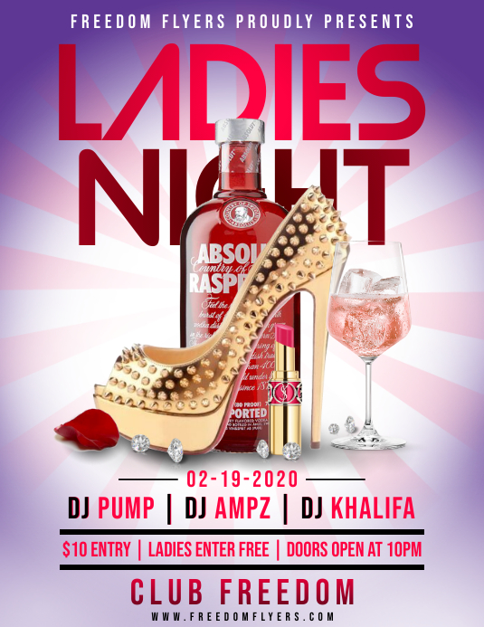 Ladies Night Flyer Template Folder (US Letter)