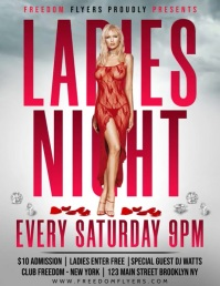 Ladies Night Flyer video Pamflet (VSA Brief) template