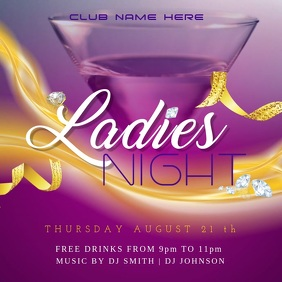 Ladies Night Instagram Post Template