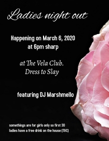 Ladies night invitation