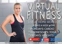 online exercise class virtual workout Poskaart template
