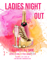 Ladies Night Out Iflaya (Incwadi ye-US) template
