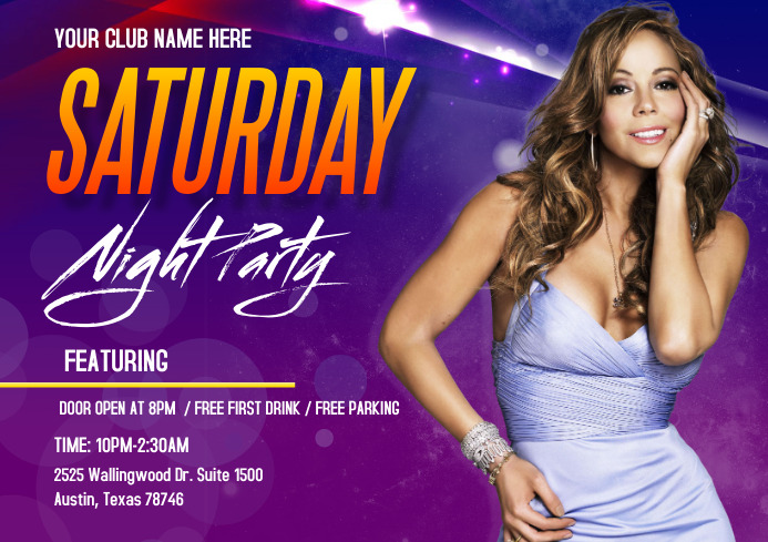 ladies night out event flyer A4 template