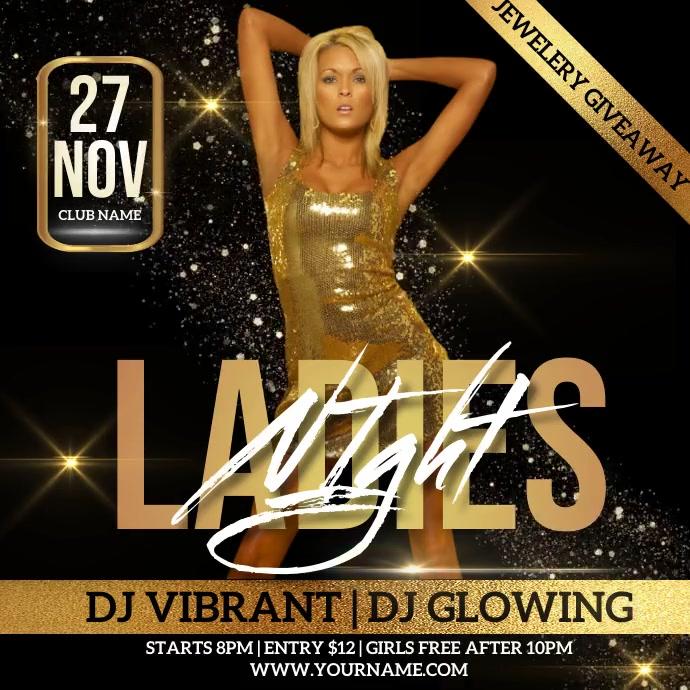 LADIES NIGHT PARTY AD DESIGN Logo template