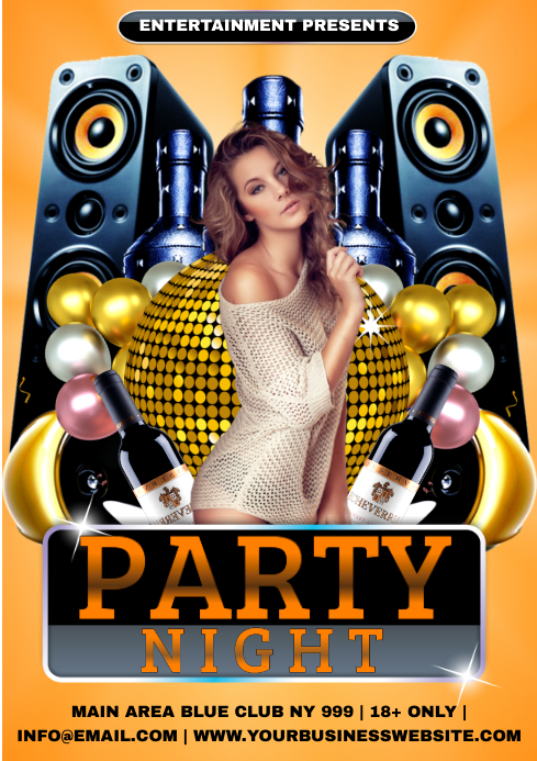 ladies night party A4 template