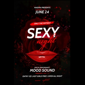Ladies Night Party Flyer Instagram Post template