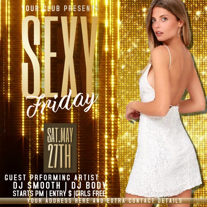 LADIES NIGHT PARTY FLYER Instagram-opslag template