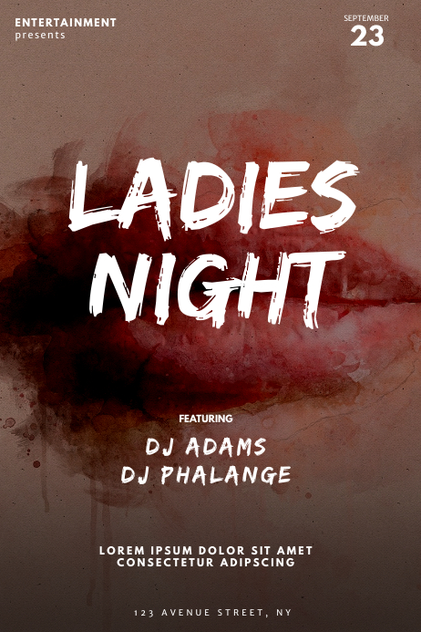 Ladies night Party Flyer Template Poster