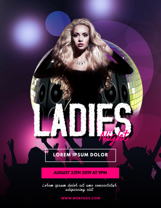Ladies Night Party flyer template