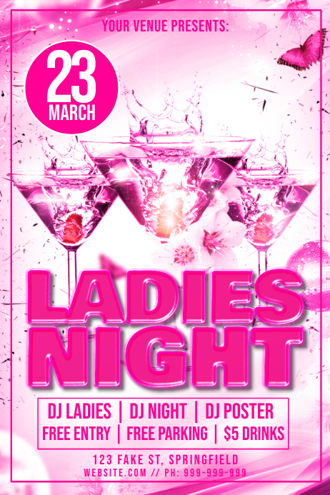 Ladies Night Poster