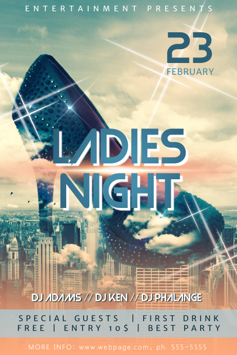 Ladies Night Flyer Template Postermywall