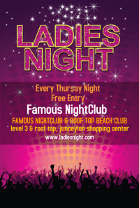Ladies Night Poster Template