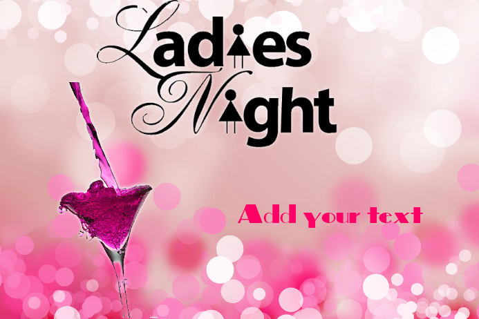 Ladies nigh Póster template