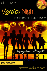 Ladies Night Poster Template Affiche