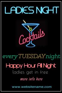 Ladies Night Poster Template